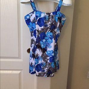 NWOT - Blue print Swim dress / tankini